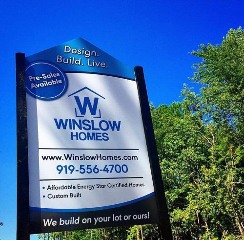winslow homes sign