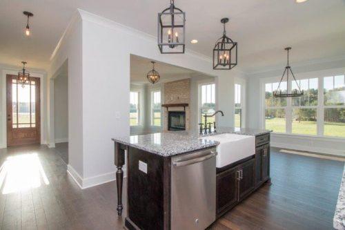 empty kitchen granite counter top