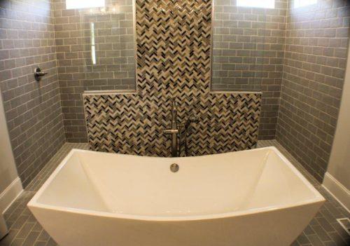 Winslow Homes custom bathtub and walk in shower