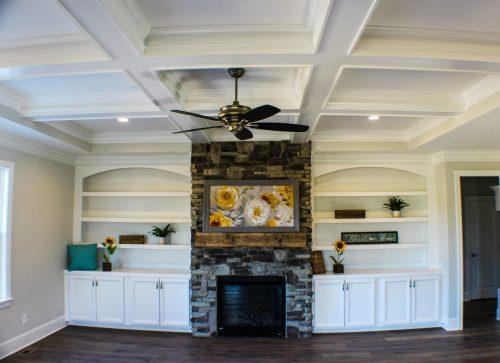 Winslow Homes custom unfurnished living room
