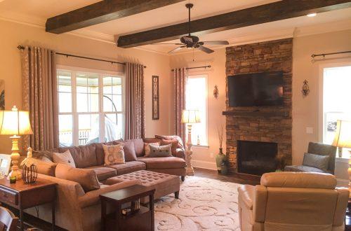 Winslow Homes custom furnished living room