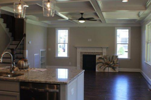 Winslow Homes custom empty living room