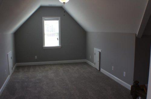 empty bonus room with carpet