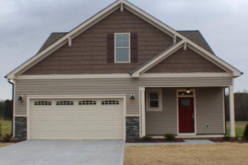 Winslow Homes custom brown and tan house