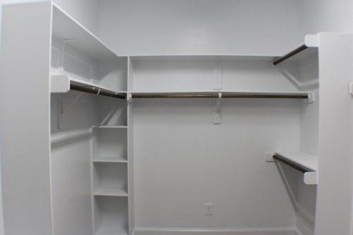 an empty white closet