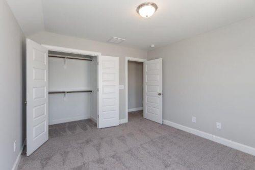 empty bedroom with closet
