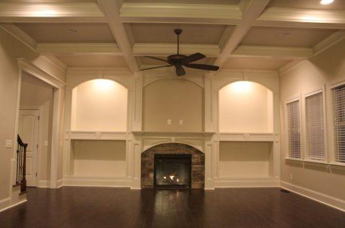 Winslow Homes empty living room