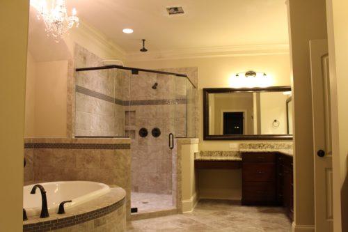 Winslow Homes custom bathroom with walk in shower
