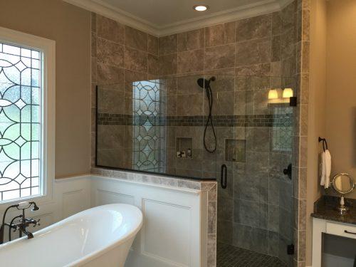 Winslow Homes custom walk in shower