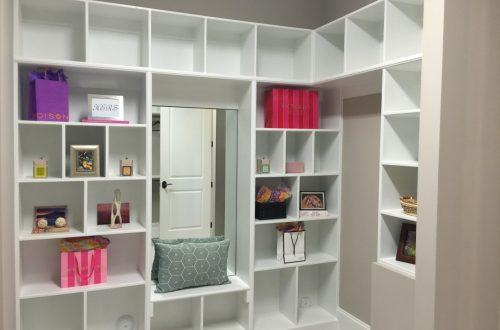 Winslow Homes custom master closet
