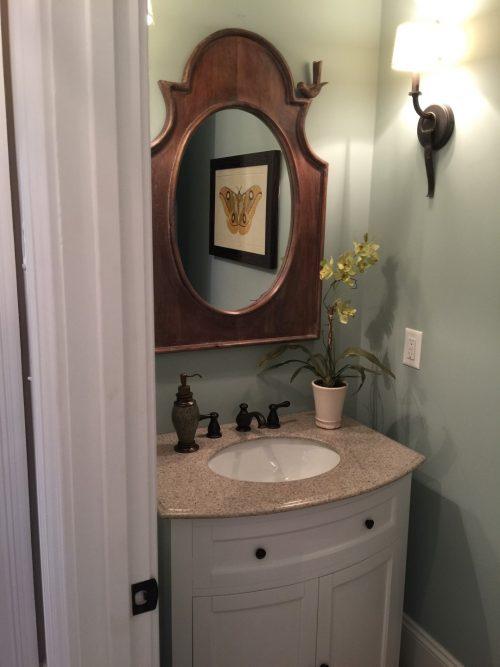 Winslow Homes custom powder room