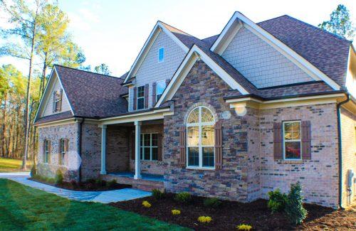Winslow Homes custom house side view