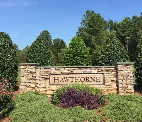 hawthorne stone sign