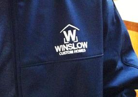 winslow logo on a coat