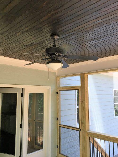 an outdoor ceiling fan