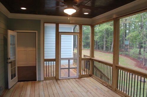empty wooden deck