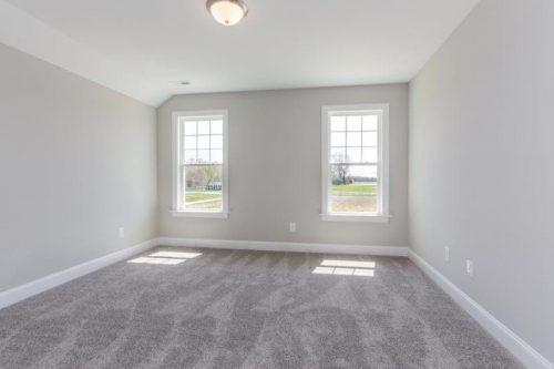 empty room with 2 windows