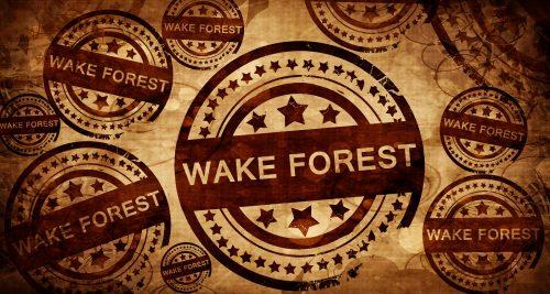wake forest, vintage stamp on paper background