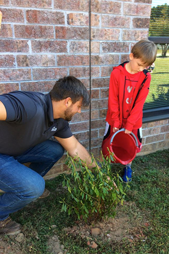 Franklin County Education Foundation - Long Mill Elementary School Azaleas Planting