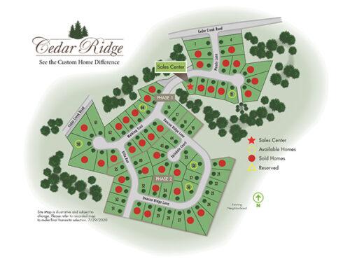 Cedar Ridge Site Map